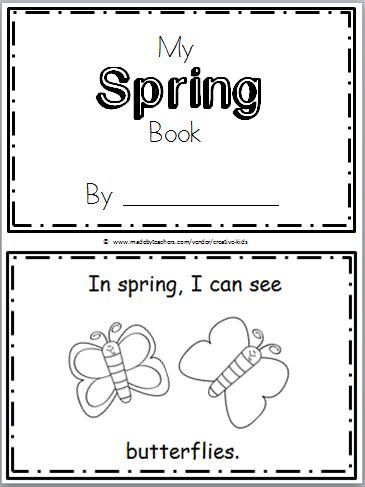 "Free Spring Mini Book for Kindergarten or preschool. Practice reading the high frequency word ""can see"" in this book. There are 9 pages in this mini book. You can print and use all the pages or just the ones that you prefer to use. The final page is blank to allow students to create their …"