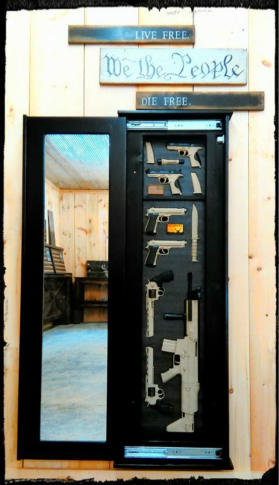 Tactical Concealment Wall Insert with Full Length Mirror - Rough Country Rustic Furniture & Decor
