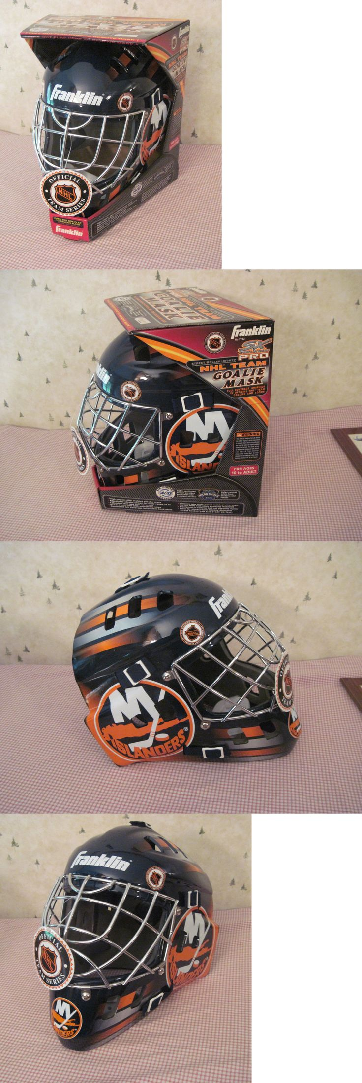 Face Masks 79762: Vintage New York Islanders Franklin Sx Pro Full Size Goalie Mask - New BUY IT NOW ONLY: $59.49