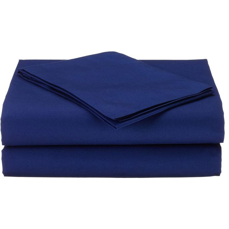 TL Care Percale 3-pc. Toddler Sheet Set, Blue One Size