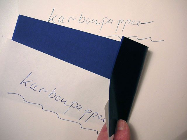 Kertas karbon adalah salah satu perlengkapan kantor yang kini sudah ketinggalan zaman dan kuno.  #kantor #ipapa