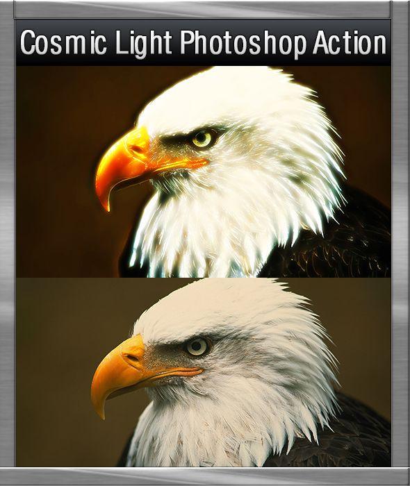 GraficAction | Cosmic Light Photoshop Action