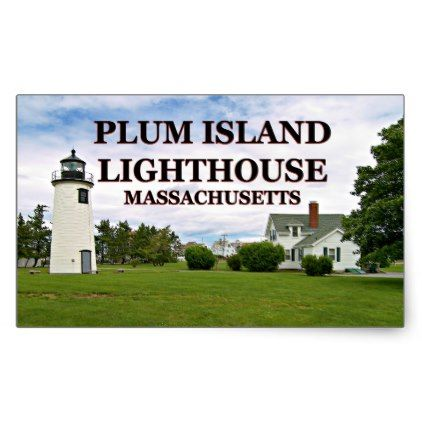 Plum Island Lighthouse Massachusetts Stickers  $5.95  by LighthouseGuy  - cyo diy customize personalize unique
