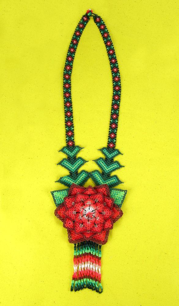huichol-necklace-01.jpg (585×1000)