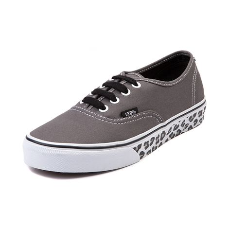Shop for Vans Authentic Leopard Sidewall Skate Shoe, Gray Leopard, at Journeys Shoes. This exotic variation on the classic Vans Authentic features a canvas upper, black contrast lace closure, leopard print sidewall, and vulcanized rubber sole with waffle tread. Available only online at Journeys.com and SHIbyJourneys.com!