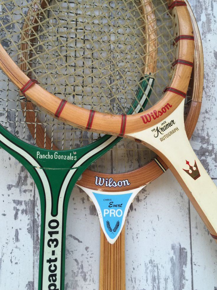 Vintage Tennis Racket Racquet - Wooden - Choice - Spaulding Wilson - Pancho Gonzales, Chris Evert, Jack Kramer by TheClassicButterfly on Etsy
