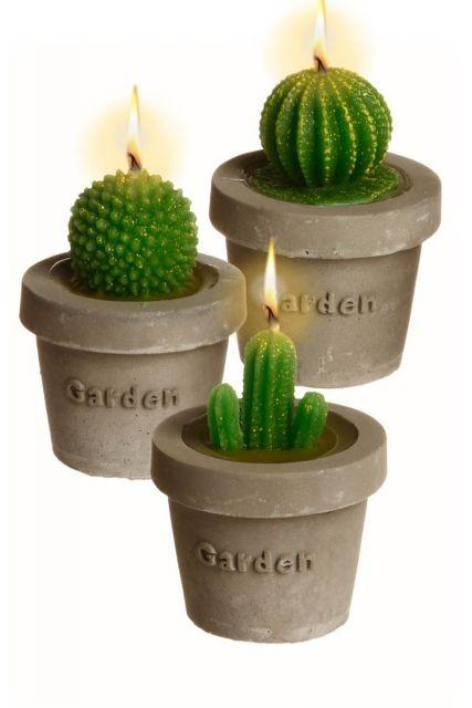 3 Bougies Cactus - Tati.fr