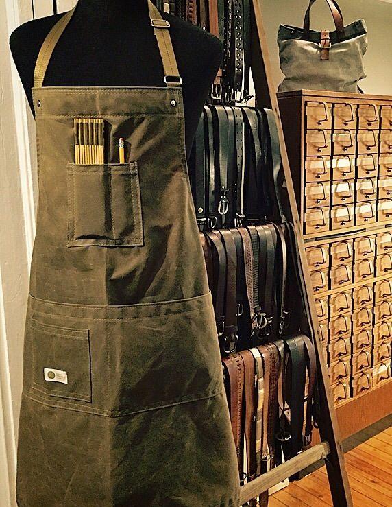 Image of Men's Shop Apron • HERITAGE Waxed Apron • Martexin Original Wax 8.25oz. Utility Apron.