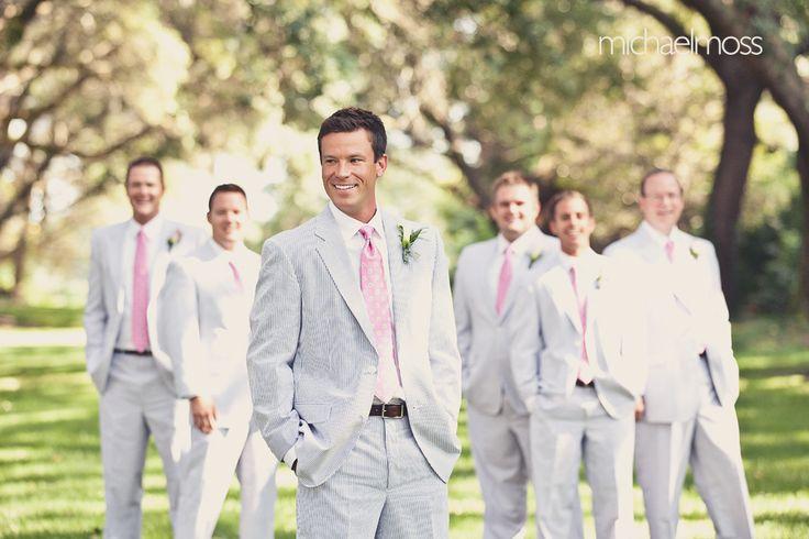 Groomsmen summer wedding colors...