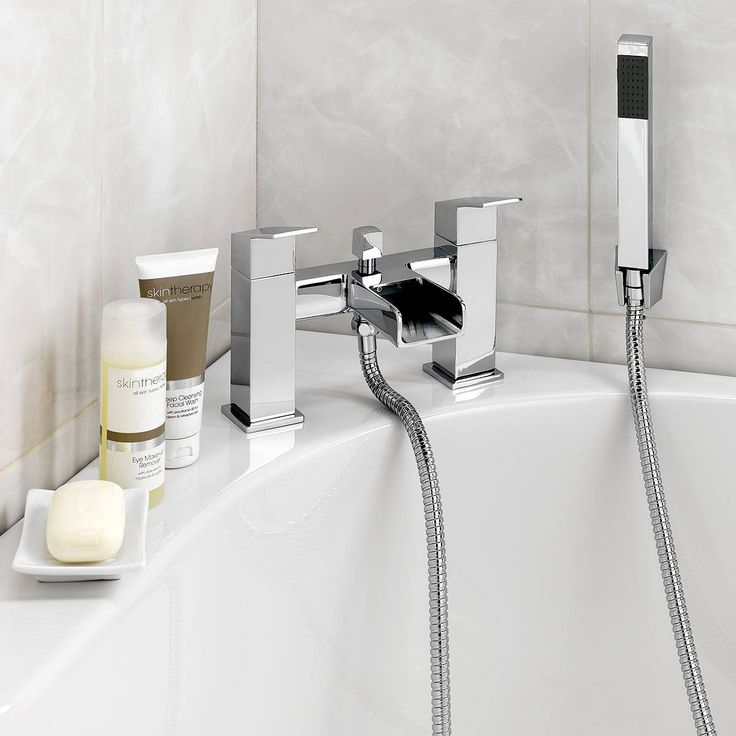 Escala Waterfall Bath Shower Mixer adds a delightfully contemporary touch to a bath. Featuring separate hot and cold taps and a hand-held shower in a matching chunky and square design the Escala looks great and works perfectly. It also comes complete with shower bracket and 1.5m hose.