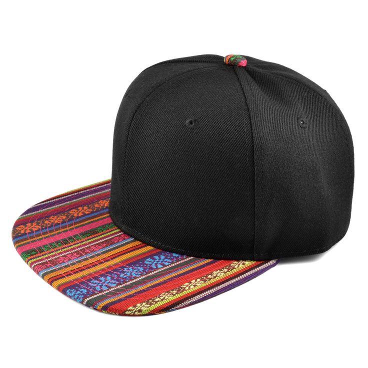 Sort/Retro Aztec Snapback Cap - 199,00kr