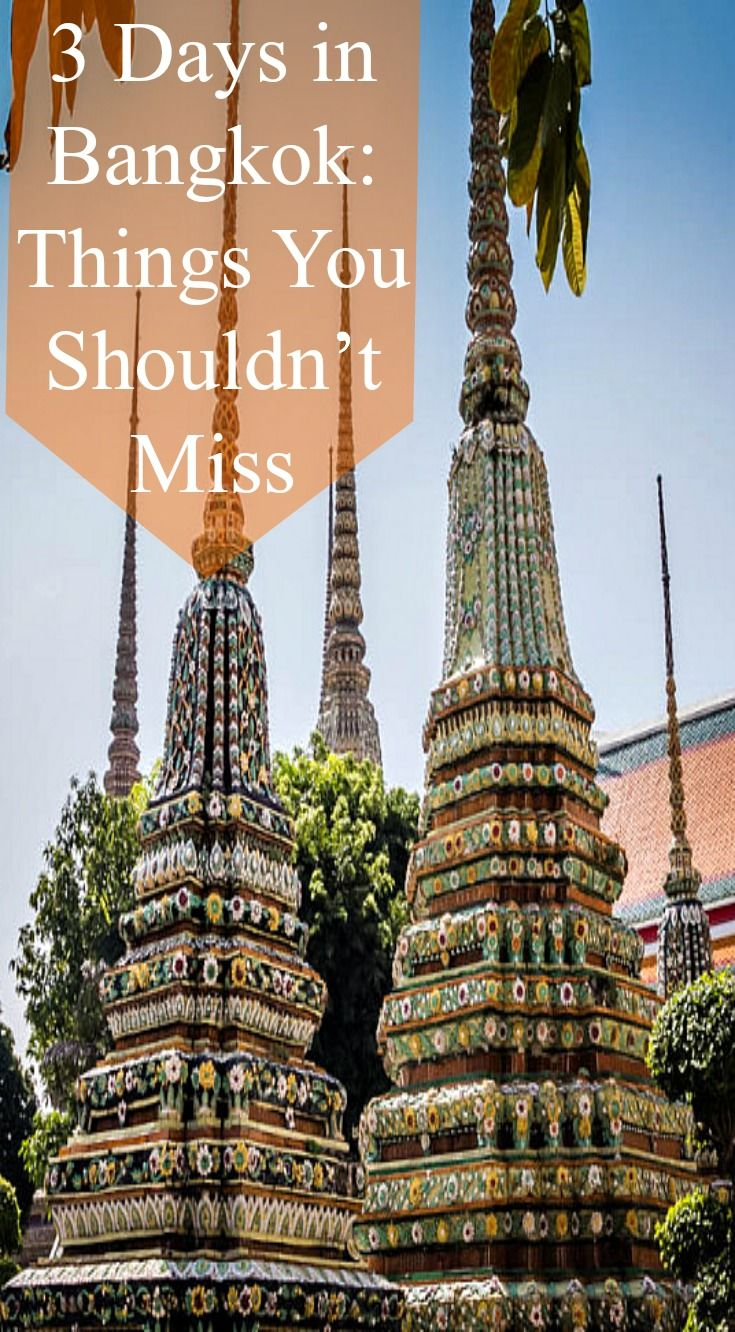 3 days in Bangkok and Things you should not miss. Three days is a sufficient amount of time to get a good grasp of the main sites in the city, try some street food and adjust to being in Thailand before you head off further afield. This post will give you an overview of the sites we feel you shouldn't miss and some tips on how to negotiate the city. Read the full blog post at http://www.divergenttravelers.com/3-days-in-bangkok-things-you-shouldnt-miss/