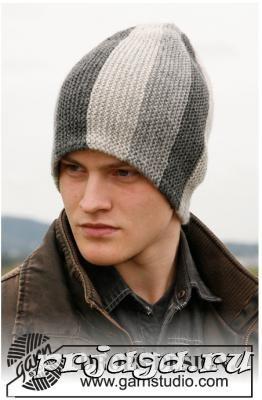 Вяжем мужчинам шапку спицами