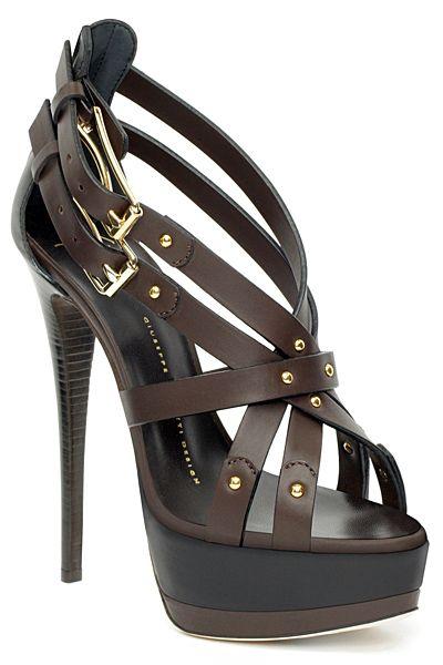 Guiseppe Zanotti ~ Double Buckle Leather Strappy Sandal