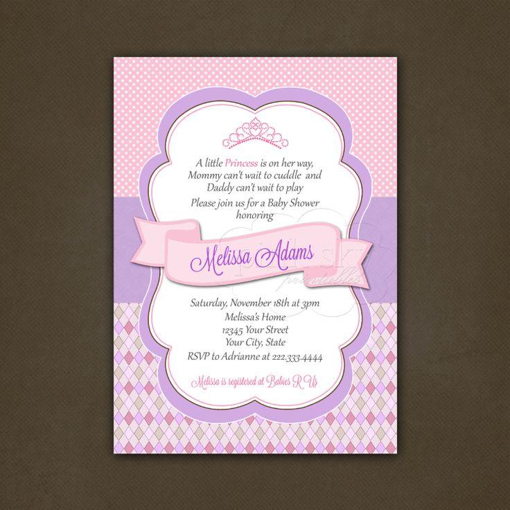 Cricut Little Princess Baby Shower Invitation By