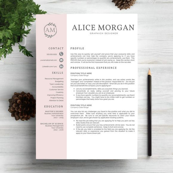 Professional Resume Template by @Graphicsauthor