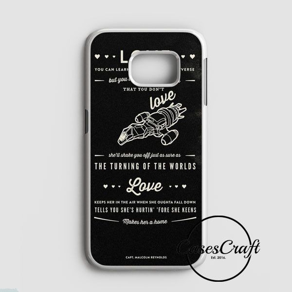 Firefly Serenity Quotes Samsung Galaxy S7 Case | casescraft