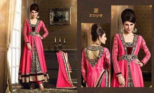 Zoya Solitaire Summer Anarkali Suits Designs 2014-2015 Shalwar Kameez Dresses Collection