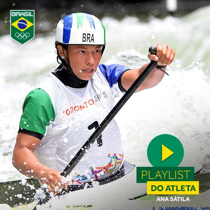 A canoagem brasileira está bem representada com Ana Sátila. Confira no link a playlist que turbina os treinos da atleta brasileira.