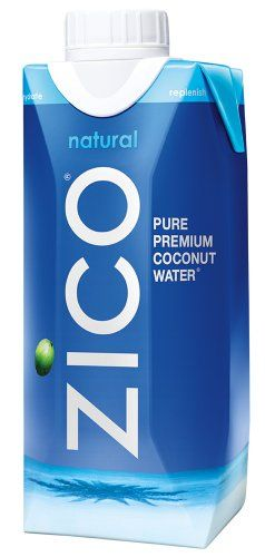 ZICO Pure Premium Coconut Water, Natural, 11.2 Ounce (Pack of 12) Zico Beverages