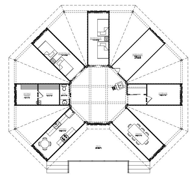 Container house floor
