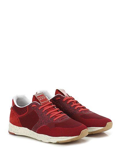BRIMARTS - Sneakers - Uomo - Sneaker in camoscio e tessuto lavorato con inserti in pelle e suola in gomma. Tacco 40, platform 25 con battuta 15. - ROSSO - € 180.00