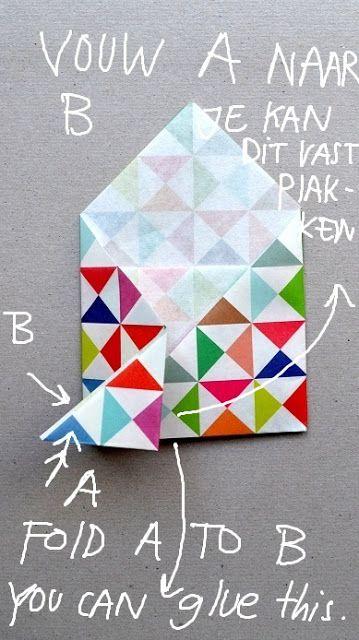 25 beste idee n over een envelop vouwen op pinterest papieren enveloppen kussens naaien en. Black Bedroom Furniture Sets. Home Design Ideas