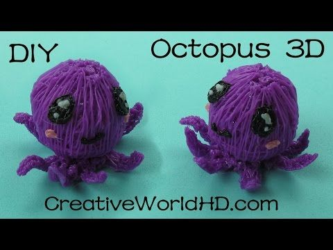 How to Make Octopus 3D - 3D Printing Pen Creations/Scribbler DIY Tutorial - YouTube