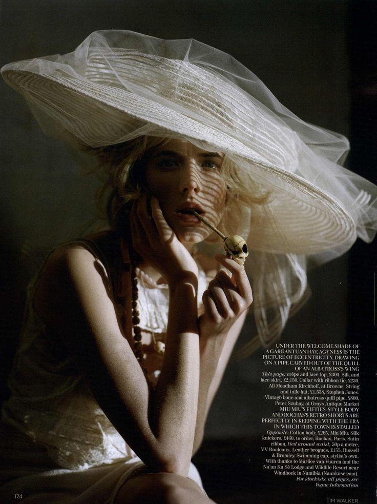 ☆ Agyness Deyn | Photography by Tim Walker | For Vogue Magazine UK | May 2011 ☆ #Agyness_Deyn #Tim_Walker #Vogue #2011