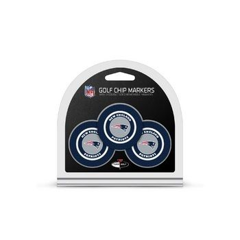 New England Patriots Golf Chip with Marker 3 Pack