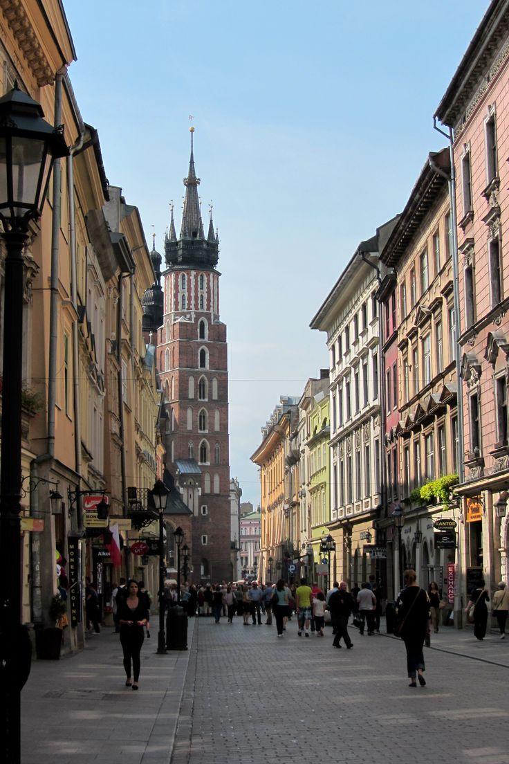 Rue Florianska - centre historique de Cracovie - Pologne Old Krakow - Poland