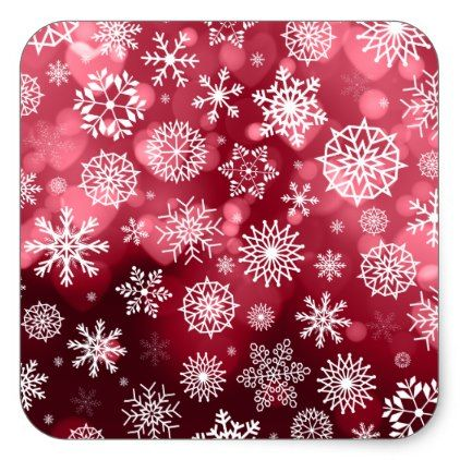 Snowflakes on a Valentine Background Sticker Seal - valentines day gifts love couple diy personalize for her for him girlfriend boyfriend
