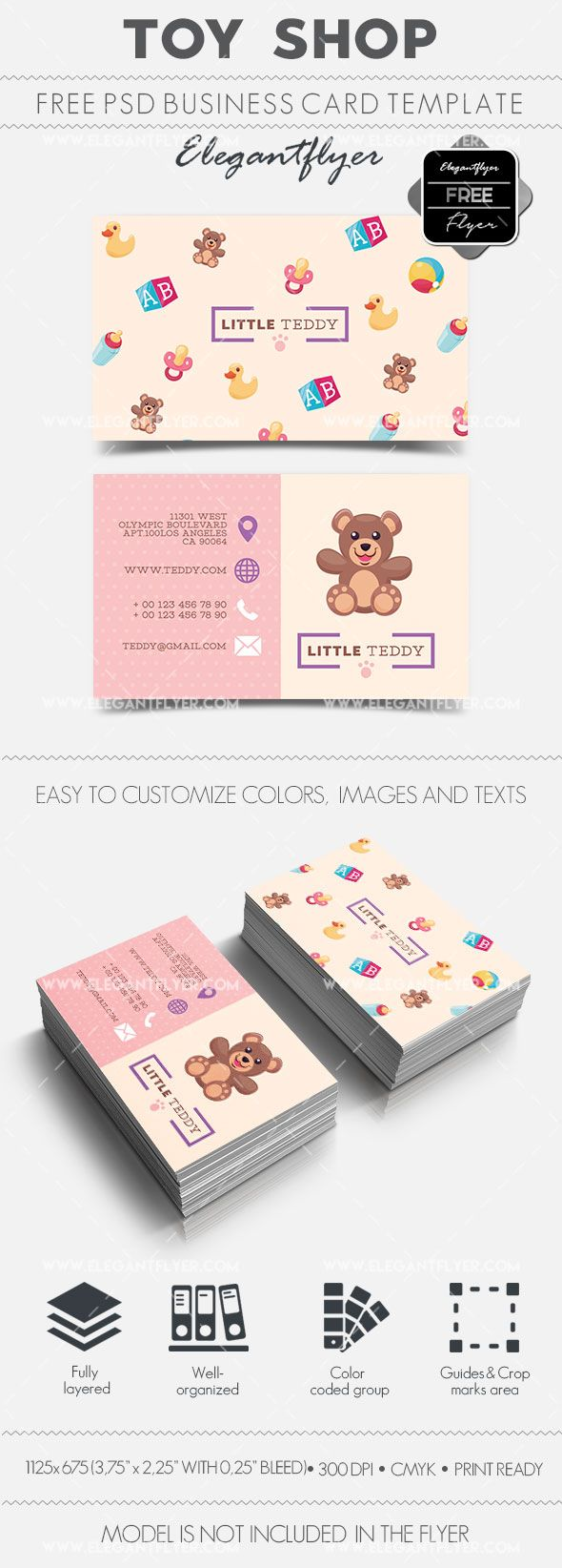 Toy Shop Free Business Card Templates Psd Design Business Card Ideas Business Card Template Psd Free Business Card Templates