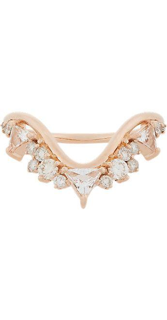 Fernando Jorge Diamond, Clear Topaz & Rose Gold Fusion Wave Ring -  - Barneys.com