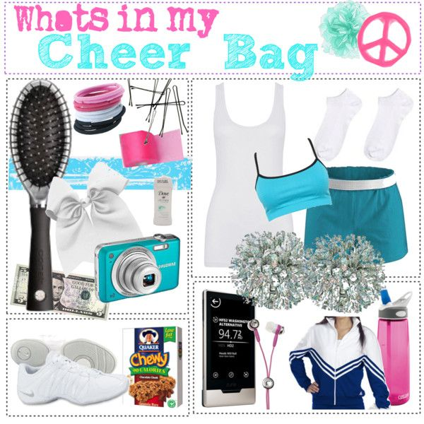 """""""Whats in my cheer bag"""" I loved these days!"""