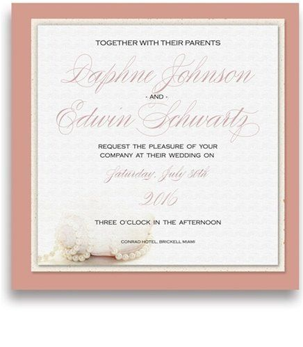175 Square Wedding Invitations - Nautilus Pearls by WeddingPaperMasters.com. $458.50. Now you can have it all! We have created, at incredible prices & outstanding quality, more than 300 gorgeous collections consisting of over 6000 beautiful pieces that are perfectly coordinated together to capture your vision without compromise. No more mixing and matching or having to compromise your look. We can provide you with one piece or an entire collection in a one stop shopping...