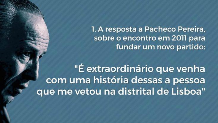 A conversa com Pacheco Pereira, o passado, os impulsos de Rio, o financiamento da campanha e o seu discurso económico são alguns pontos marcantes da entrevista de Pedro Santana Lopes ao Observador. http://observador.pt/videos/entrevista-2/8-momentos-decisivos-da-entrevista-de-santana-lopes-ao-observador/