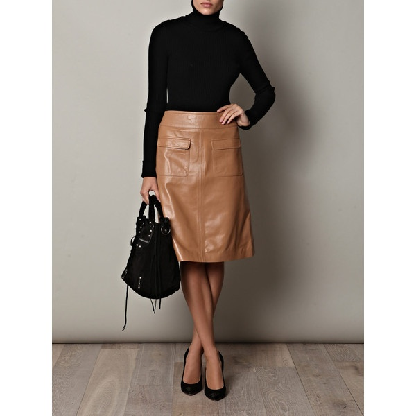 Love This Leather Skirt Camel And Black Go Perfectly Together Freda Monique A