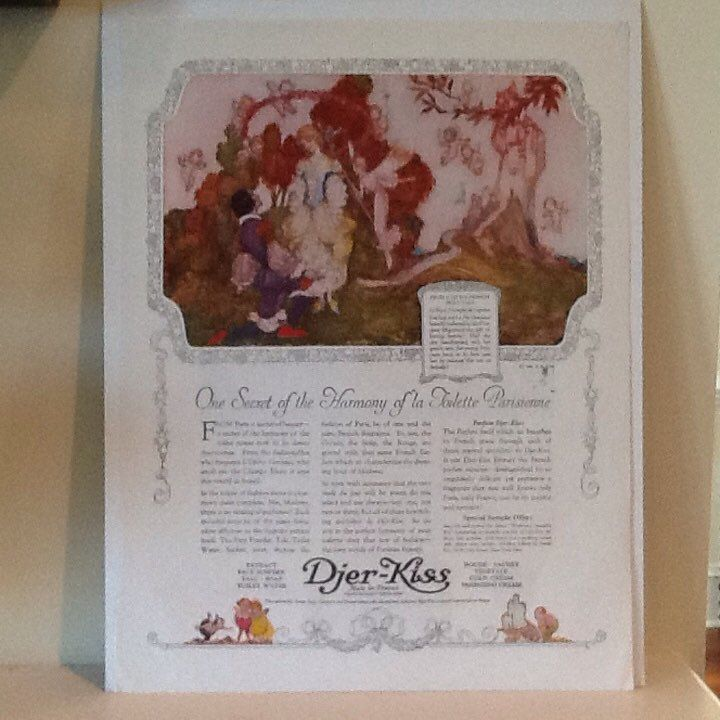 Djer-Kiss Cosmetic Advertising Page from Ladies Home Journal