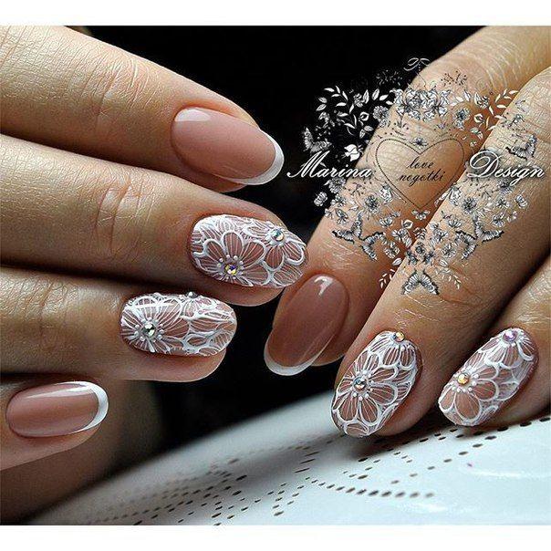 @pelikh_ белый Маникюр   Видео уроки   Art Simple Nail