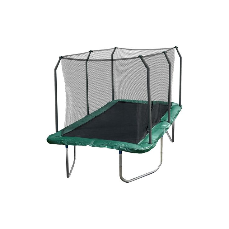 Skywalker Rectangle Trampoline with Enclosure - Green (14')