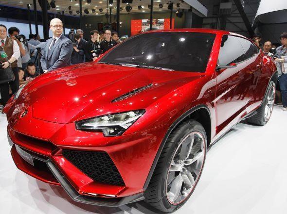 SUV high tech Urus, da Lamborghini, apresentado no Salão do Automóvel de Pequim
