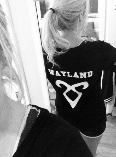 My Mortal Instruments shirt backside. ---WHY do I not have one of these???!!! Grr.-----she should have put Herondale