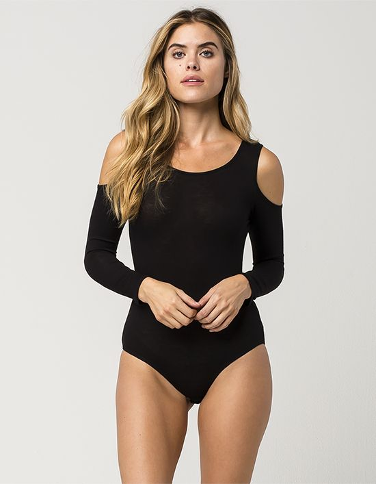 $22 EYESHADOW Cold Shoulder Womens Bodysuit