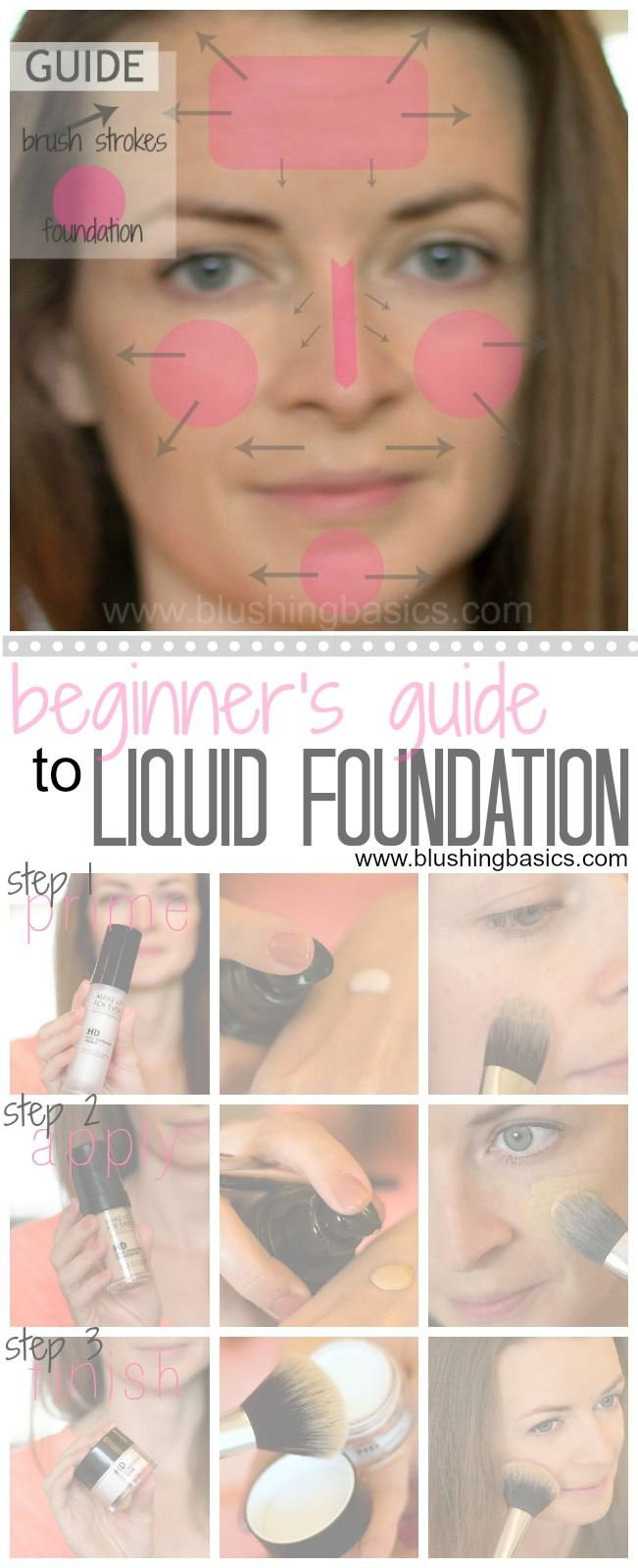 blushing basics: How To Apply Liquid Foundation