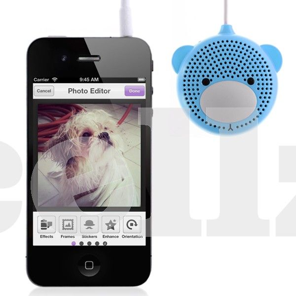 Audio Mini Stereo Speaker - Audio speaker can be charged using PC with USB cable, or by a charger;Battery can be used repeatedly for about 500 times #speaker #audio #music #cellphone #cellz.com #accessories $8.21