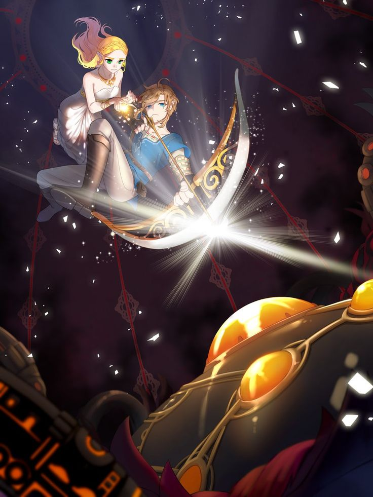 The Legend of Zelda: Breath of the Wild Art> Link, Princess Zelda and Disaster   – Zelda