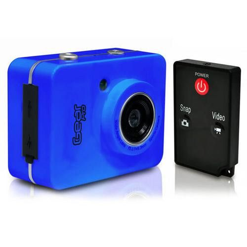 Gear Pro HD 1080P Action Camera Hi-Res Digital Camera/Camcorder with Full HD Video, 12.0 Mega Pixel Camera & 2.4'' Touch Screen (Blue Color)