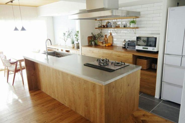 アイランドキッチン おしゃれなキッチンに憧れて リノベーションで1番こだわった場所 ブログ リノベと暮らしとインテリア ここゆこ キッチンのレイアウト アイランドキッチン キッチンデザイン