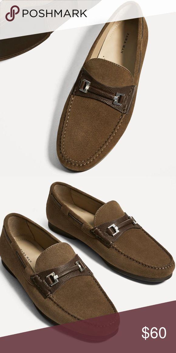 Zara - spring 2017 - new men's driving loafer Leather driving style loafer Zara Shoes Loafers & Slip-Ons